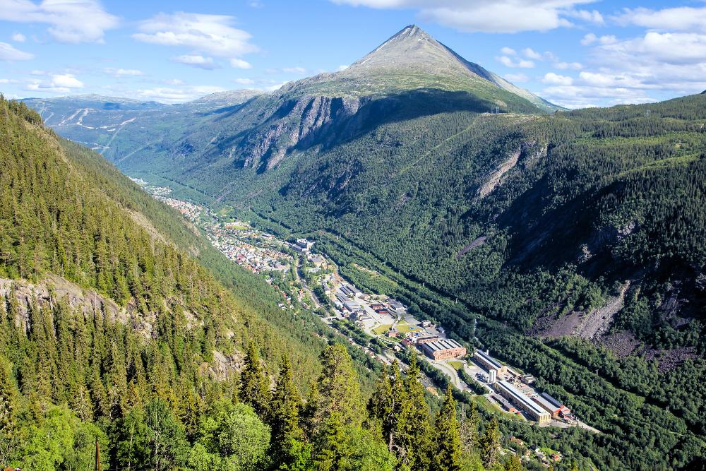 Η πόλη Ριουκάν της Νορβηγίας από ψηλά