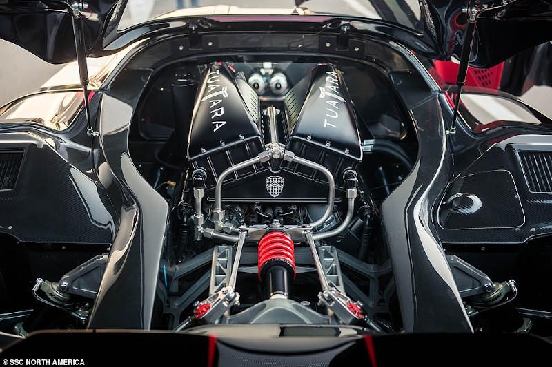 O  κινητήρας V8 των 5,9 λίτρων με δύο τούρμπο του SSC Tuatara