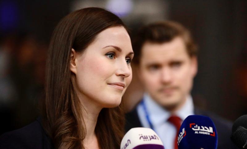 Η 34χρονη πρωθυπουργός της Φινλανδίας, Σάνα Μαρίν.