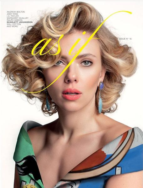 Η Σκάρλετ Γιόχανσον στην φωτογράφησή της για το περιοδικό «As If»