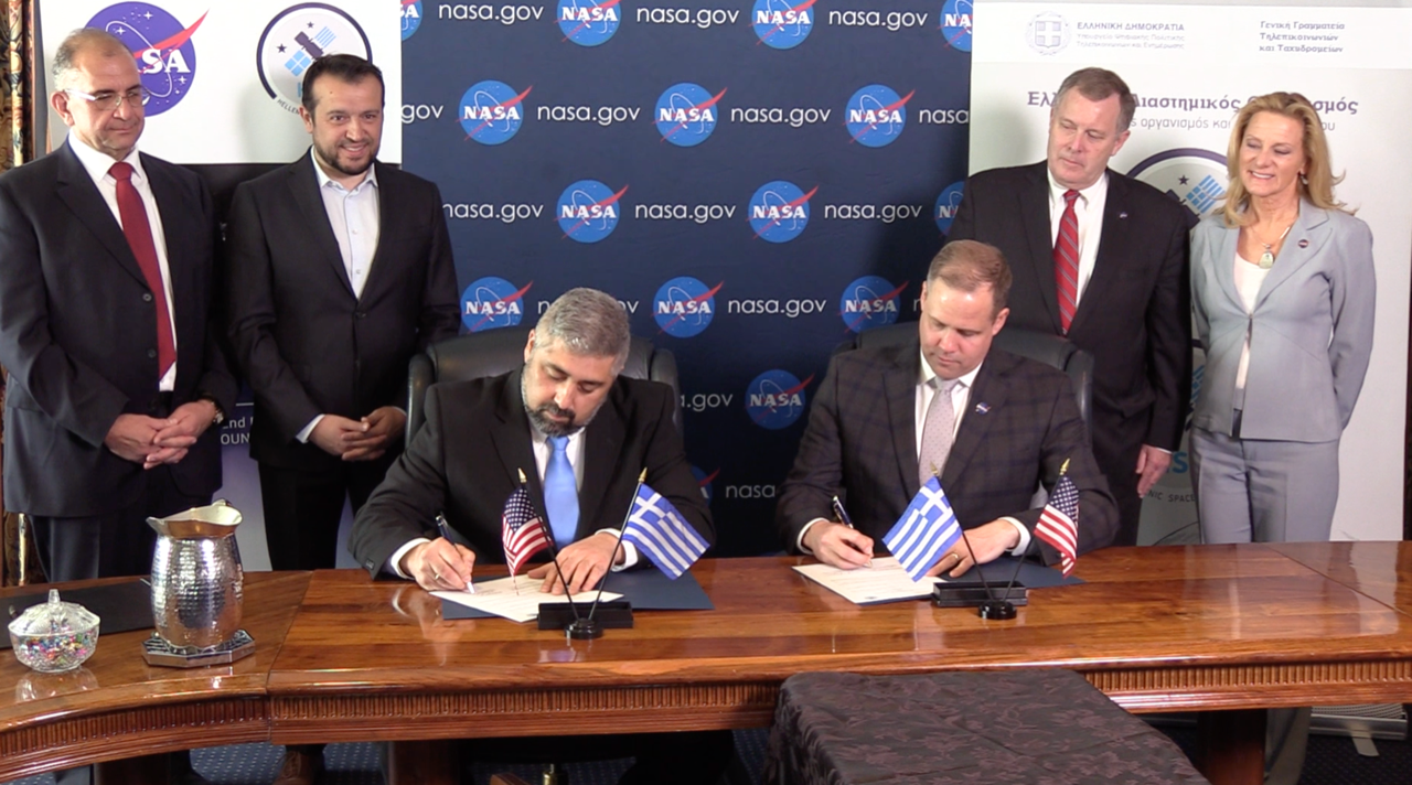 H υπογραφή του ΕΛΔΟ με τη NASA