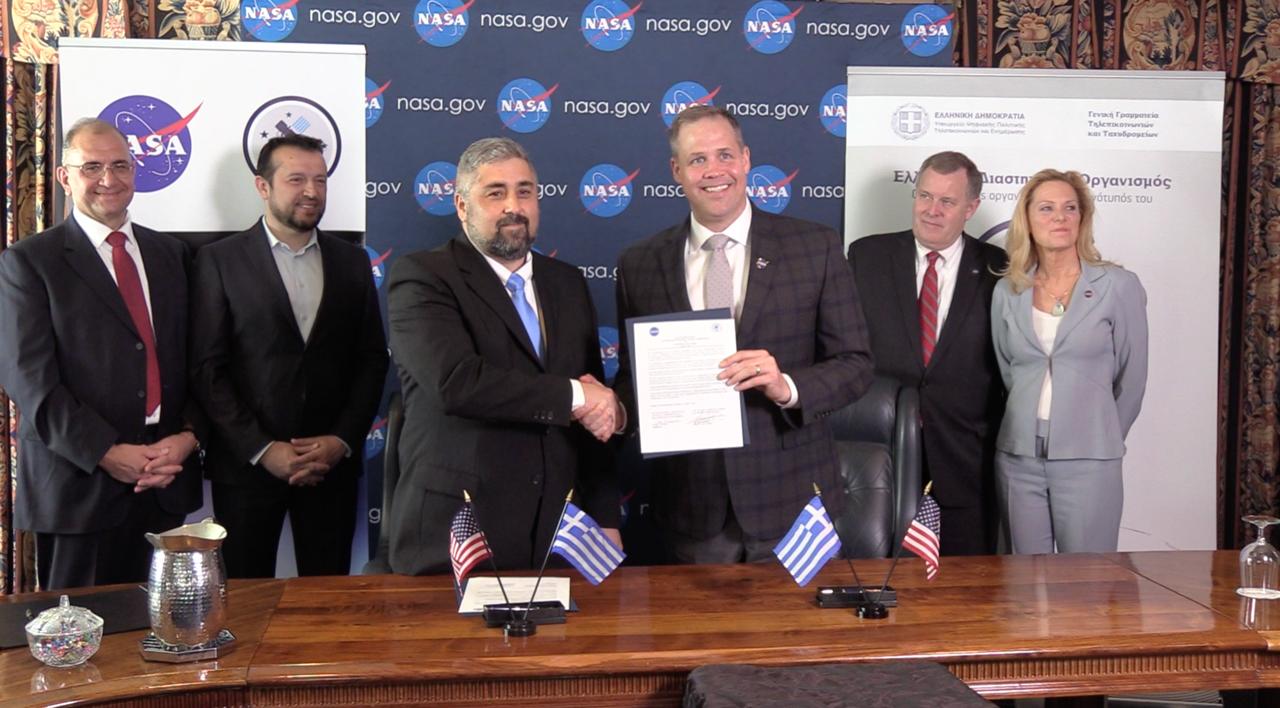 Η υπογραφή του ΕΛΔΟ με τη NASA