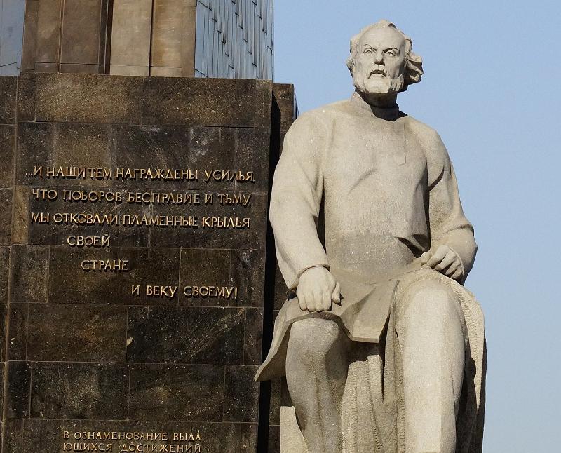 Άγαλμα του Κονσταντίν Τσιολκόφσκι.