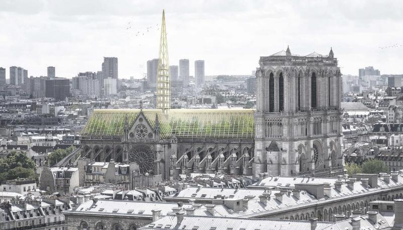Γυάλινη οροφή με δέντρα από κάτω -σαν θερμοκήπιο- προτείνει το γαλλικό αρχιτεκτονικό γραφείο Studio NAB