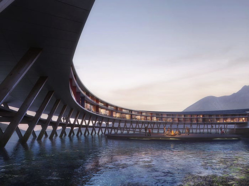 Το ξενοδοχείο Svart σχεδιάστηκε έτσι ώστε να προσφέρει στους επισκέπτες του πανοραμική θέα στο φιορδ.