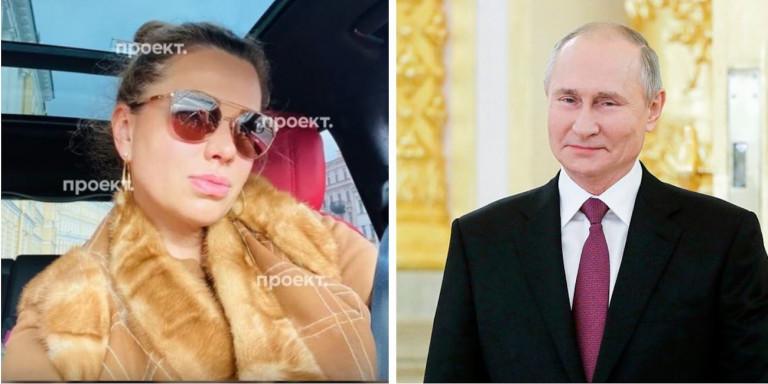 H Σβετλάνα Κριβονόγκις, φερόμενη πρώην ερωμένη του Πούτιν, και ο Πρόεδρος της Ρωσίας