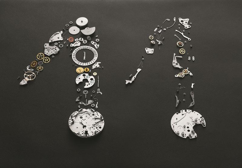 "Tα εξαρτήματα της «καρδιάς» του αυτόματου χρονογράφου ""Monaco"" της Tag Heuer"