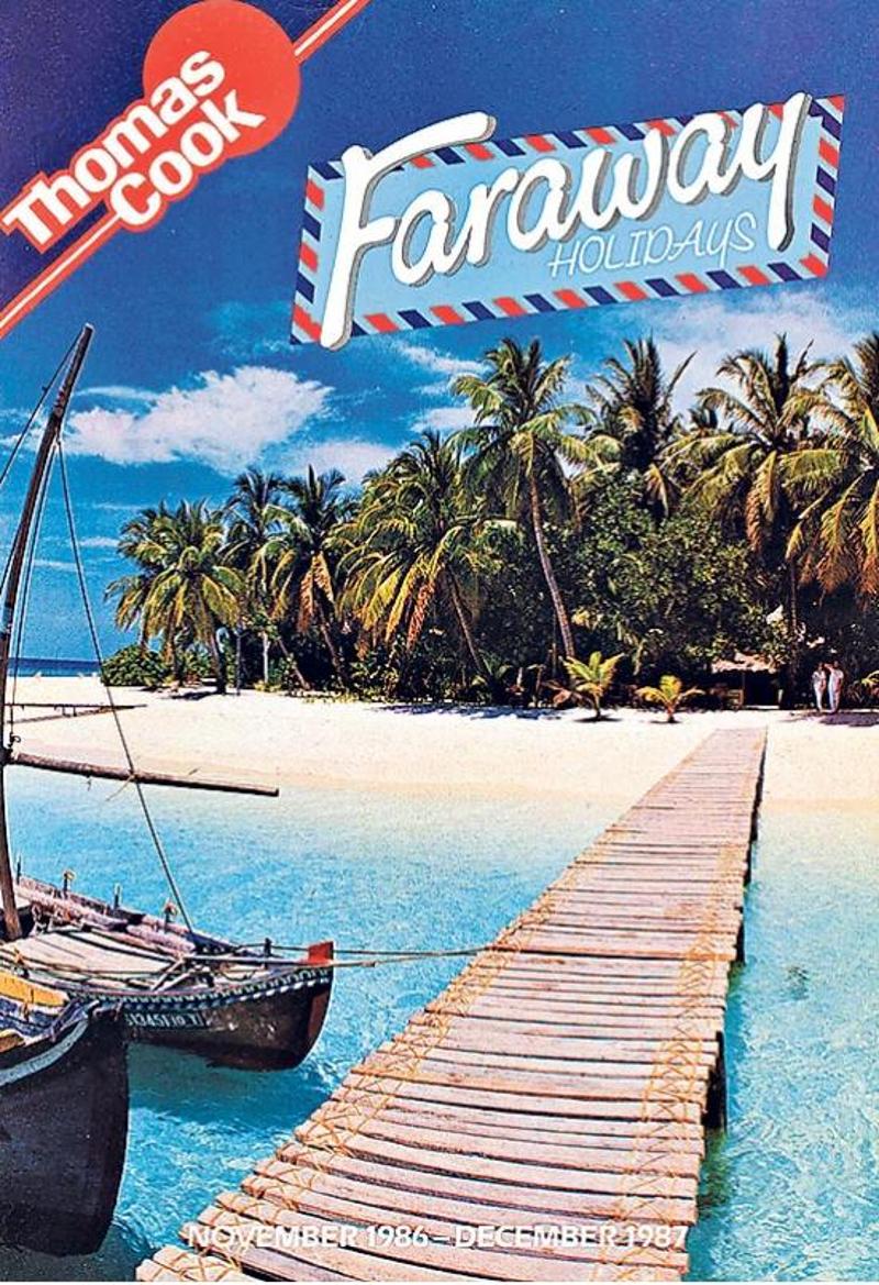 Εξώφυλλου διαφημιστικού φυλλαδίου για διακοπές στην Καραϊβική της Thomas Cook από το 1986.