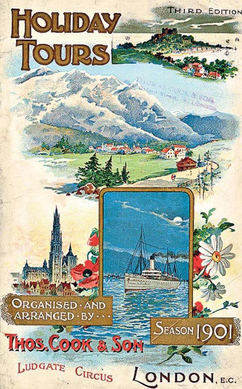 Διαφημιστικό φυλλάδιο του 1901της Thomas Cook.