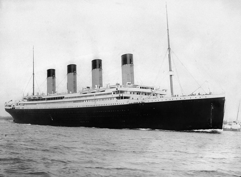 Ο Τιτανικός κατά τον απόπλου του από το Σαουθάμπτον στις 10 Απριλίου του 1912.