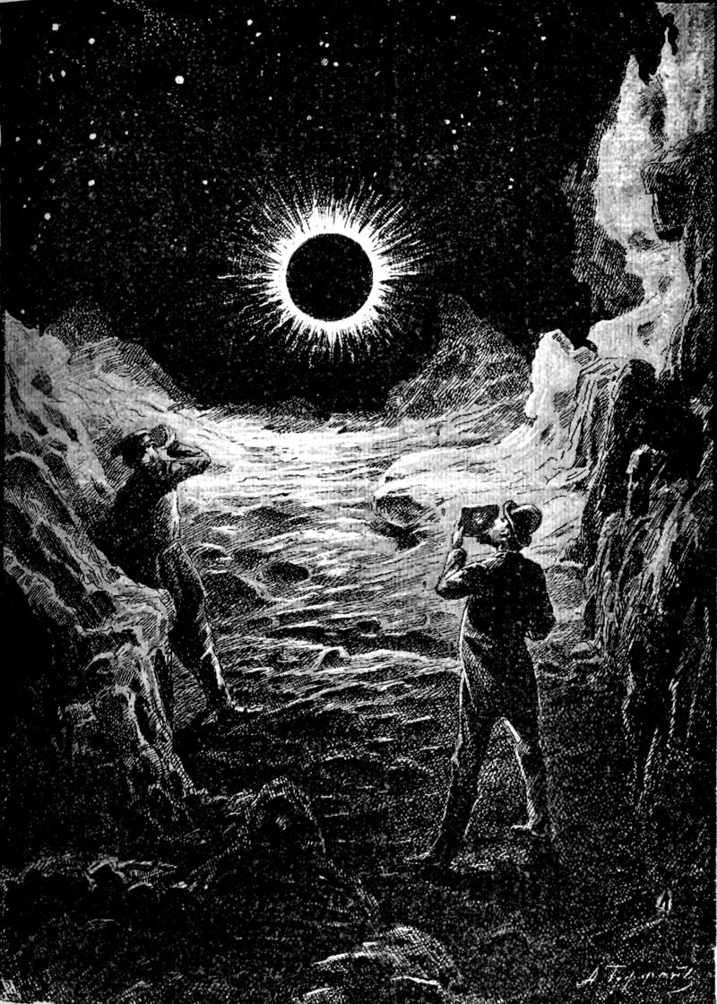 Σκίτσο από το βιβλίο του Τσιολκόφσκι «Άνθρωπος στης Σελήνη».