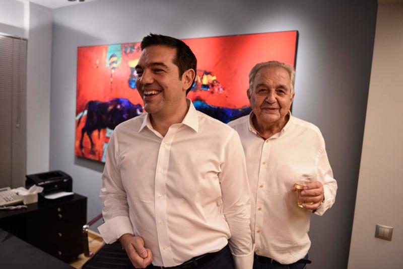 Ο Αλέξης Τσίπρας μαζί με τον Αλέκο Φλαμπουράρη