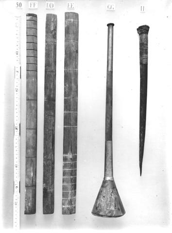 H μπρούτζινη τρομπέτα που βρέθηκε στον τάφο του Τουταγχαμών.