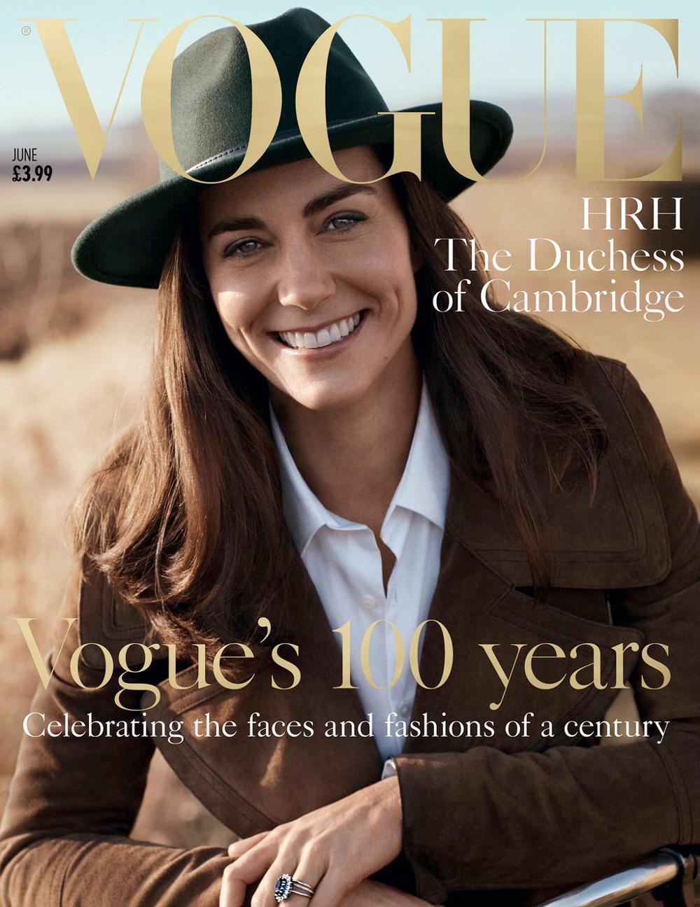 Η Κέιτ Μίντλετον στο εξώφυλλο του επετειακού τεύχους της Vogue τον Ιούνιο του 2016