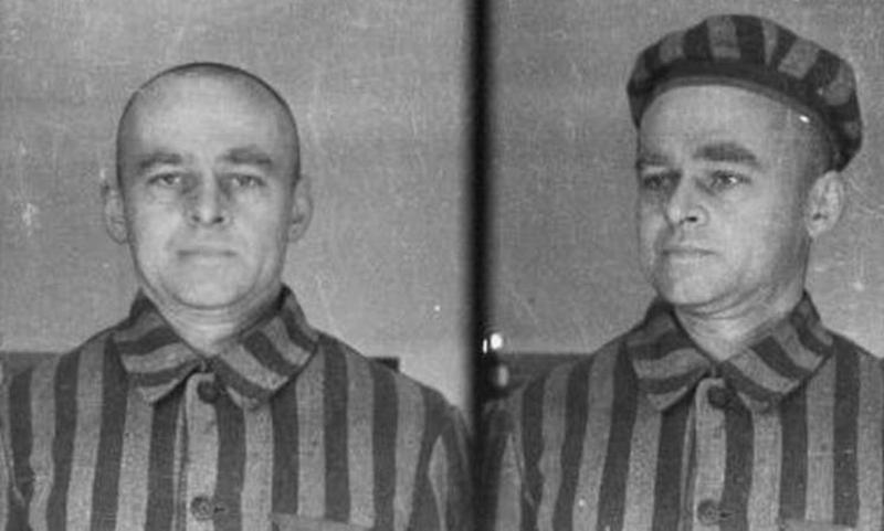 Φωτογραφίες του Βίτολντ Πιλέτσκι ως κρατουμένου του Άουσβιτς.