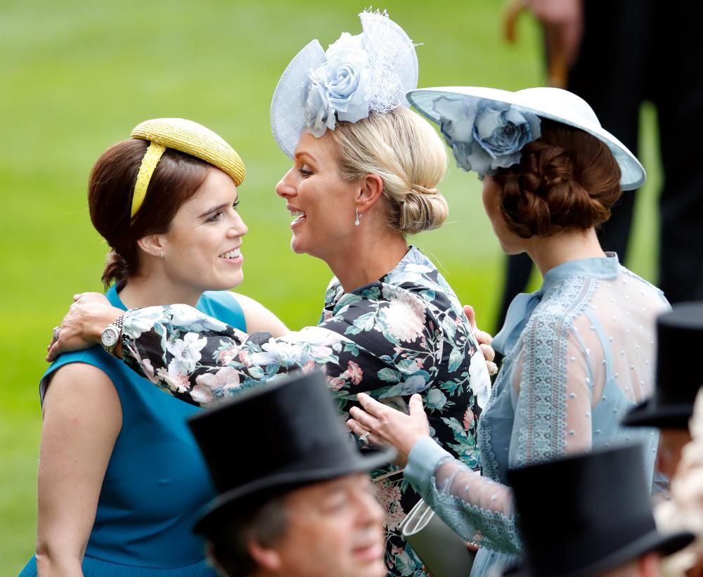 Η Ζάρα Τίνταλ κάνει μια μεγάλη αγκαλιά την πριγκίπισσα Ευγενία