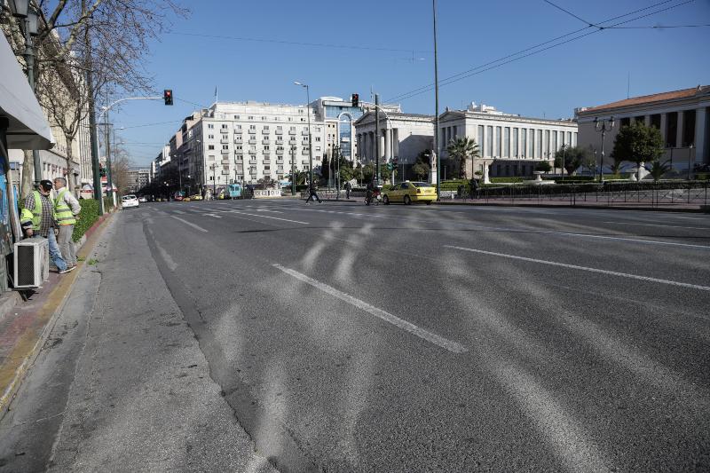 Πρωτόγνωρες εικόνες στο κέντρο της Αθήνας