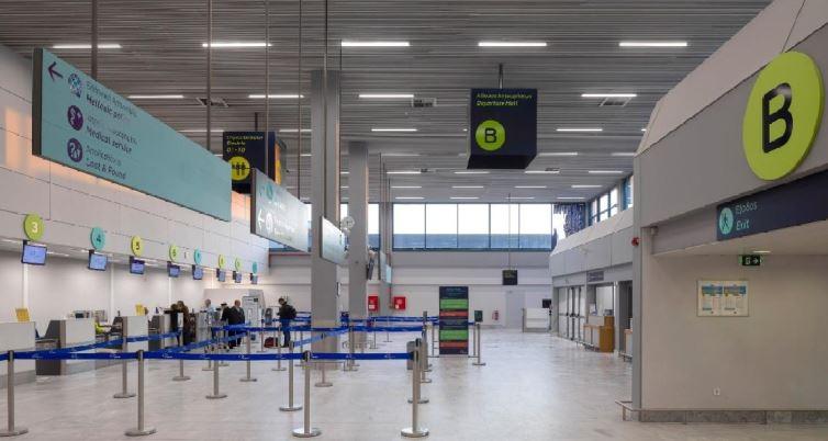 Χώρος check in στο αεροδρόμιο Καβάλας