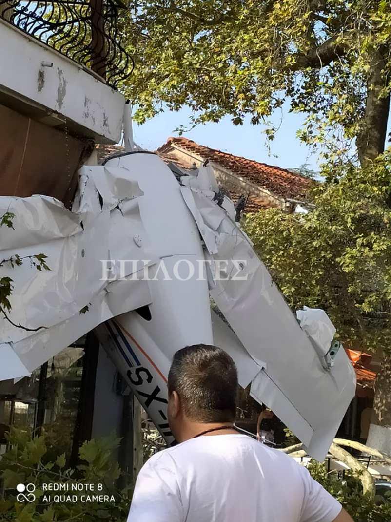 πτώση μονοκινητήριου αεροσκάφους στην Πρώτη Σερρών