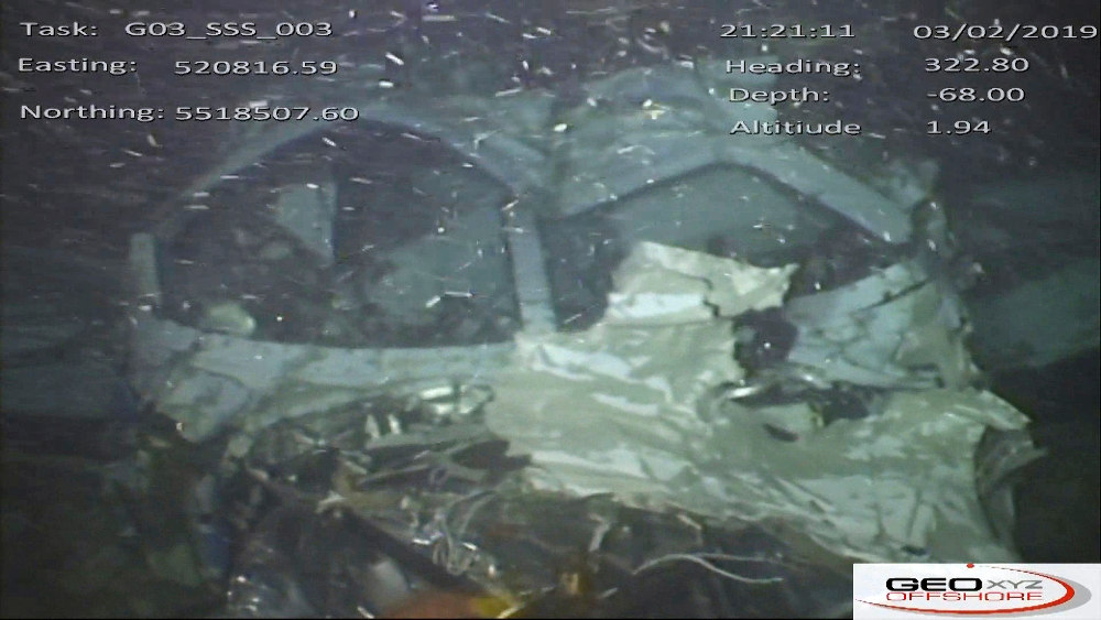 Εικόνα από τα συντρίμμια του αεροπλάνου στον βυθό της θάλασσας