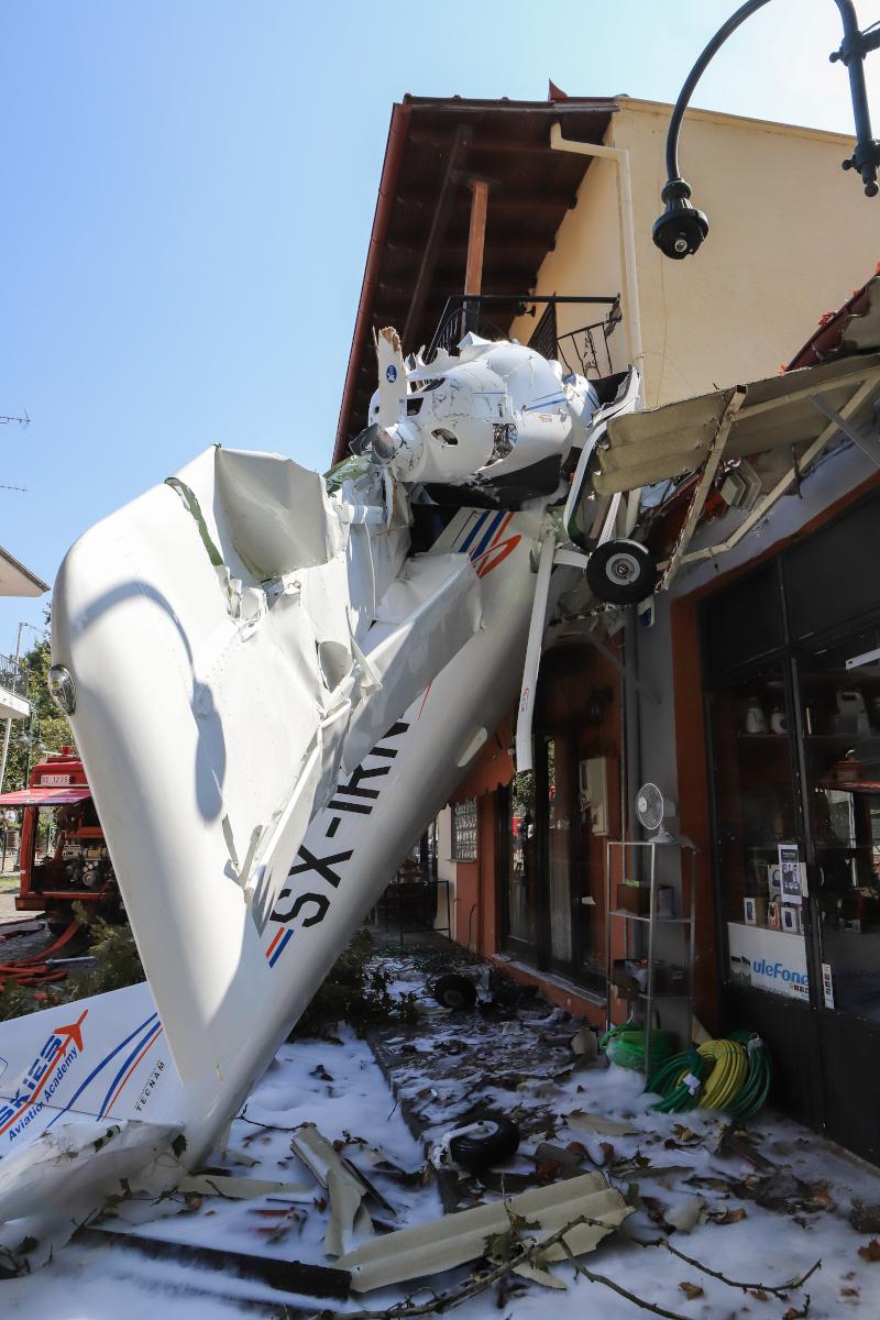 το μονοκινητήριο αεροπλάνο που έπεσε