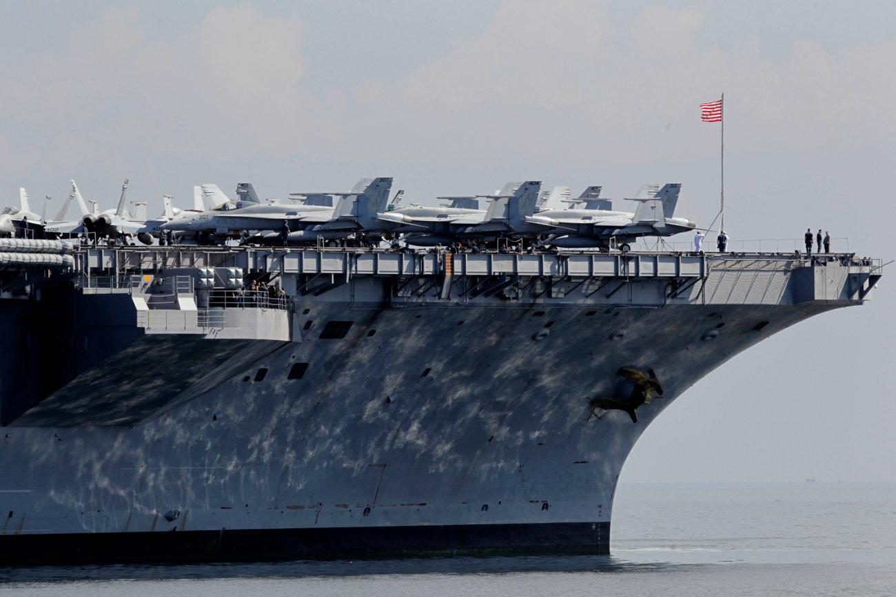 Το αεροπλανοφόρο Καρλ Βίνσον που απέρριψε τη σορό του Οσάμα Μπιν Λάντερ στη θάλασσα