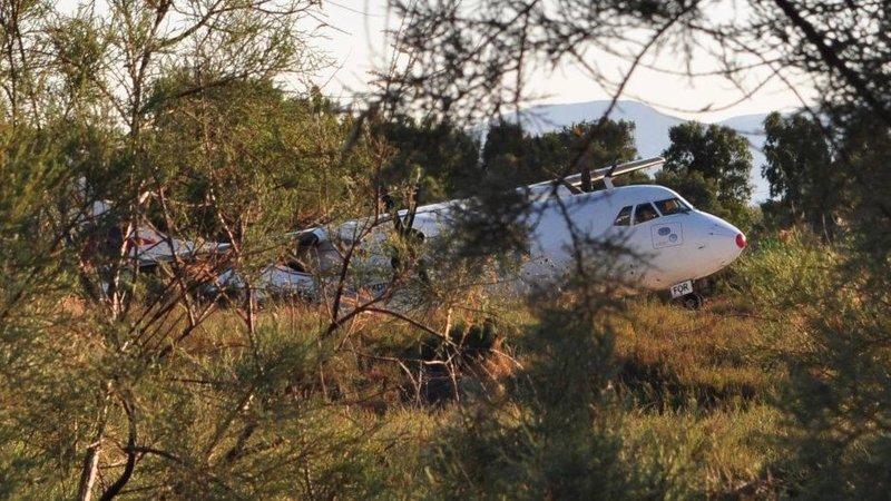 Το αεροσκάφος μέσα στα δέντρα