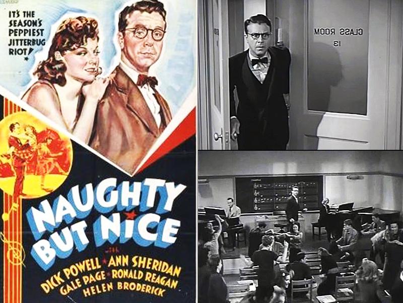 Αφίσα και δύο σκηνές του φιλμ  «Στο Ρυθμό του Σουίνγκ» (Naughty but Nice)