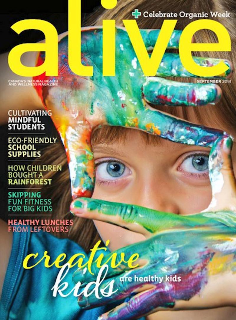 Το εξώφυλλο του περιοδικού Alive