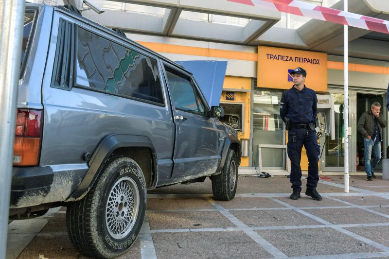 Το αυτοκίνητο, τύπου τζιπ, που χρησιμοποίησαν οι δράστες