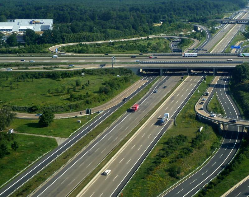 Πανοραμική άποψη της Autobahn