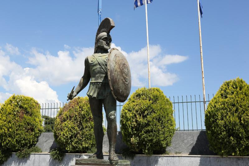 Το άγαλμα του βασιλιά Λεωνίδα στη Σπάρτη