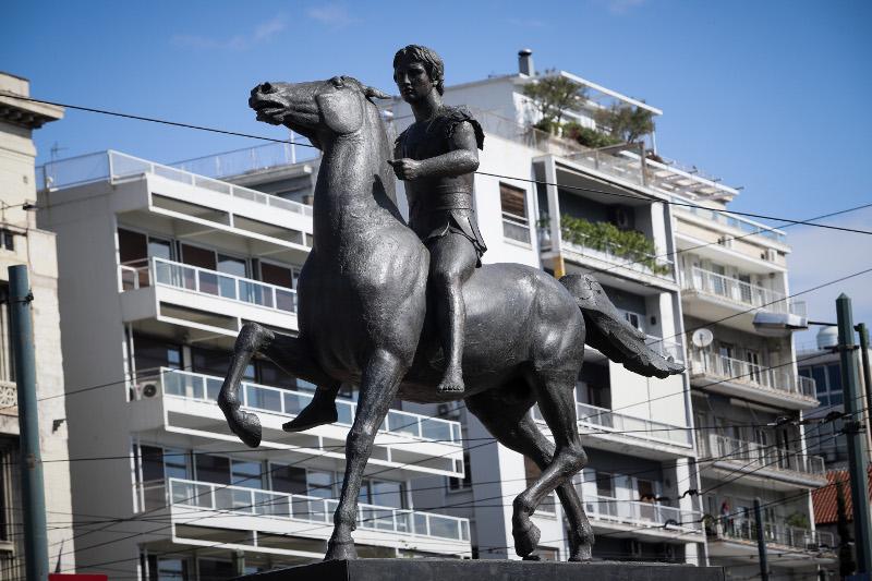 Το άγαλμα του Μεγάλου Αλεξάνδρου