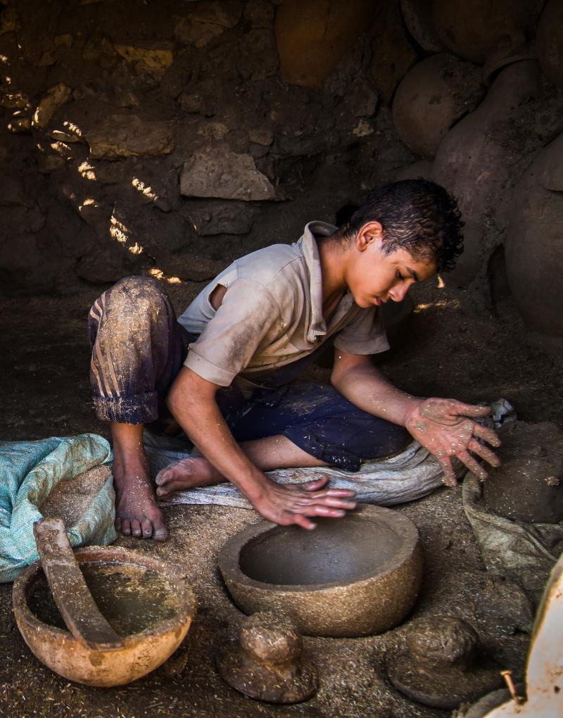 Στο χωριό Tunis οι κάτοικοι ασχολούνται πολύ με την κεραμική