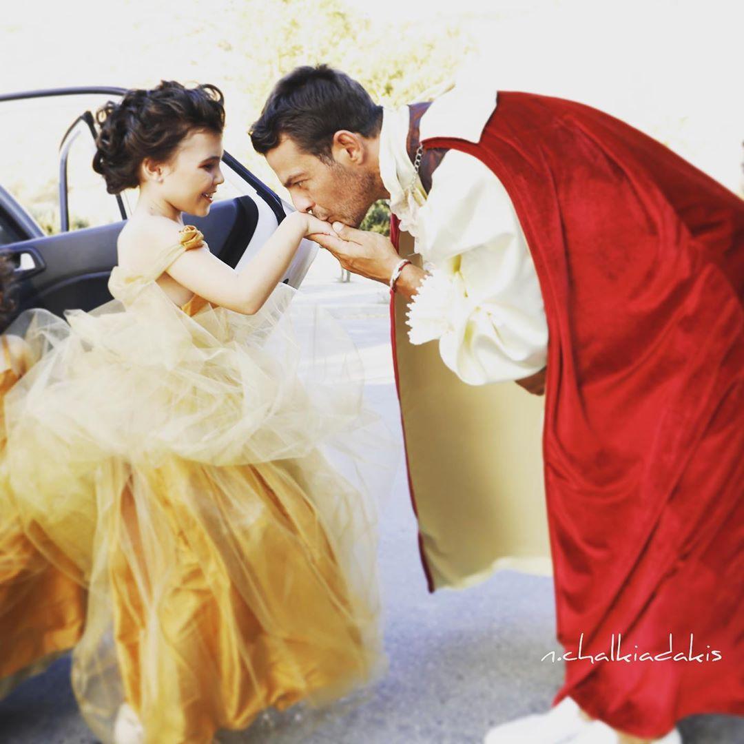 Ο «πρίγκιπας» Γιώργος Αγγελόπουλος με τη μικρή Έλενα