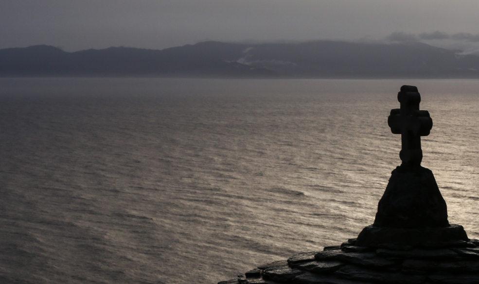 Εικόνα της θάλασσας από την χερσόνησο Άθω στο Άγιο Όρος