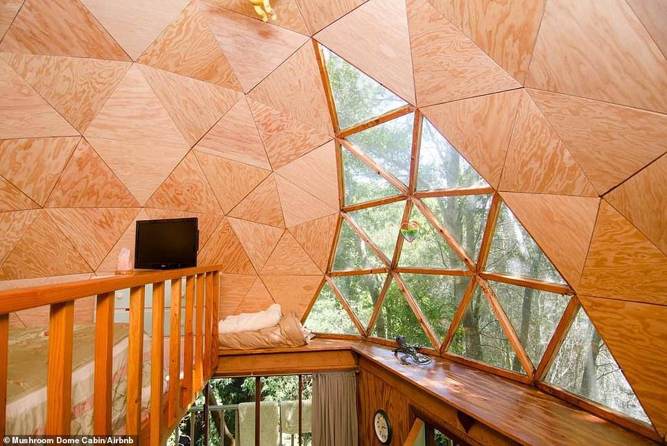 Στην γυάλινη οροφή της καμπίνας, οι επισκέπτες μπορούν να απολαύσουν τον έναστρο ουρανό και την φύση.