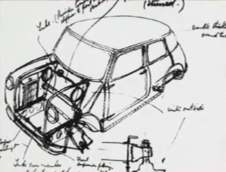 Ένα από τα θρυλικά σχέδια του Άλεκ Ισηγόνη που οδήγησε στο Mini