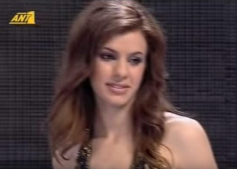 Η Αλεξάνδρα Ταβουλάρη με καστανά μαλλιά στα Καλλιστεία