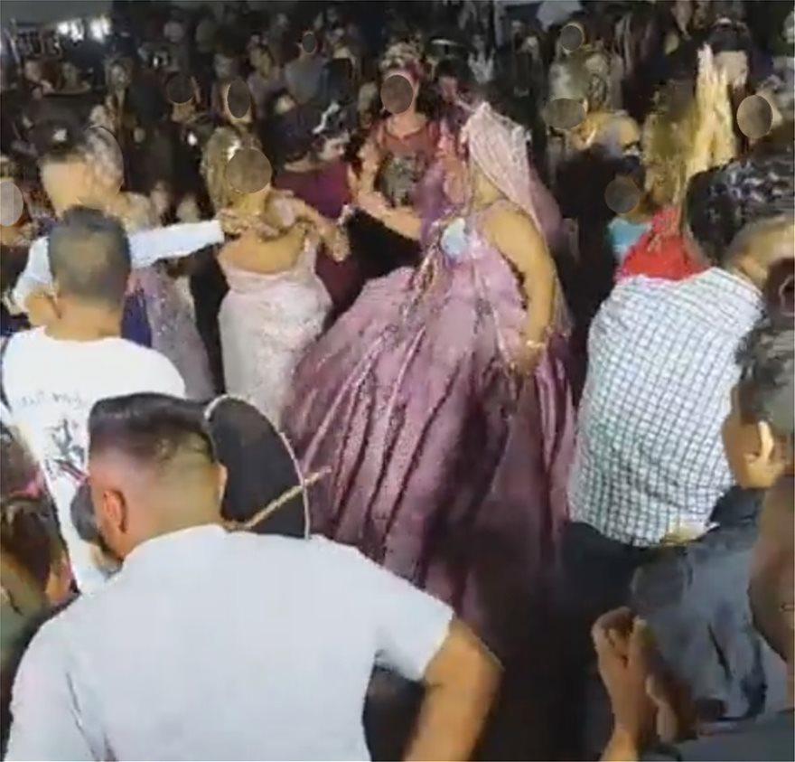 Απίστευτες εικόνες συνωστισμού σε γάμο στην Αλεξανδρούπολη