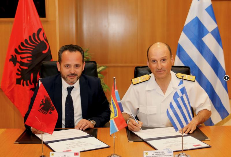 Υπογραφή στρατιωτικής συνεργασίας μεταξύ Ελλάδας και Αλβανίας / Φωτογραφία: ΓΕΕΘΑ