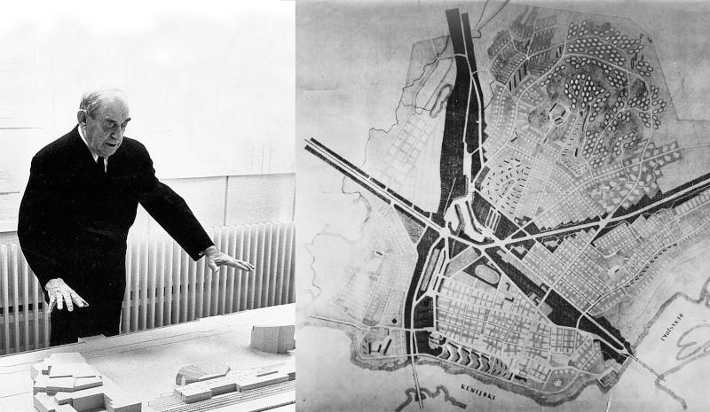 Ο διάσημος αρχιτέκτονας Αλβάρ Άαλτο ανέλαβε το έργο της ανακατασκευής της πόλης του Ροβανιέμι/Φωτογραφία: Visitrovaniemi