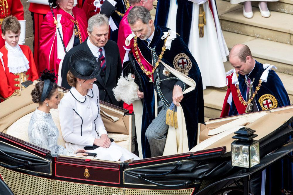 Βασιλιάς Φελίπε και βασίλισσα Λετίθια με Κέιτ Μίντλετον και πρίγκιπα Γουίλιαμ
