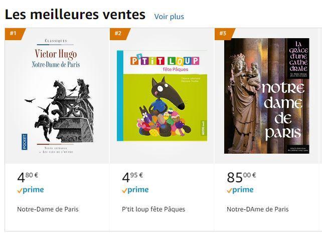 Πίνακας με τα best seller βιβλία στη Γαλλία, σύμφωνα με την Amazon