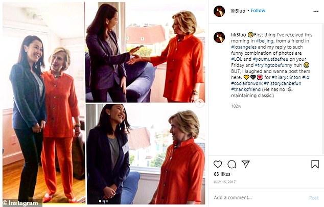 Η Luo είχε συναντηθεί με τη Χίλαρι Κλίντον