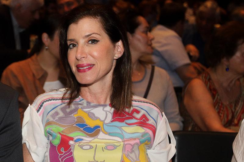 Η Αννα Μισέλ Ασημακοπούλου στην προεκλογική ομιλία του Βασίλη Κικίλια