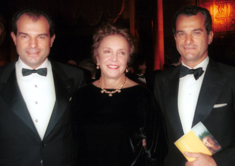Anna Bulgari Calissoni Με το Massimo και τον Leonardo Ferragamo