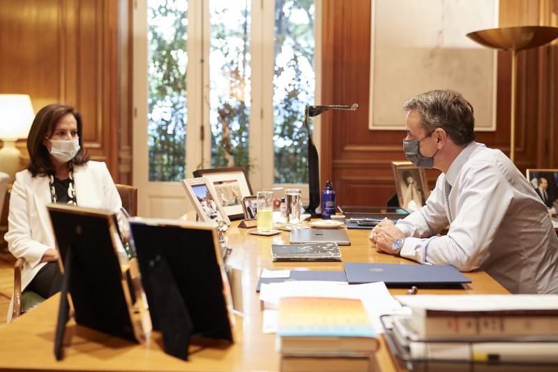 Άννα Διαμαντοπούλου με Μητσοτάκη