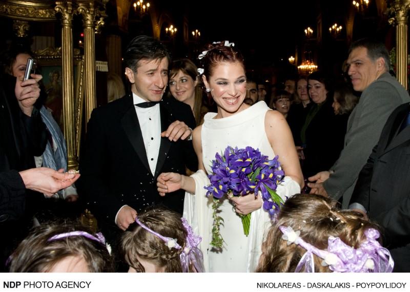 Στιγμιότυπο από τον γάμο της Αντιγόνης Δρακουλάκη