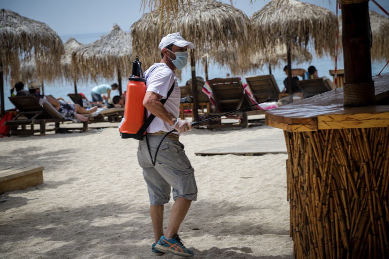 άρση μέτρων απολύμανση σε οργανωμένη παραλία